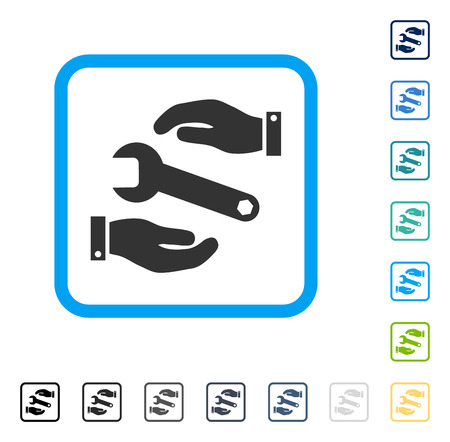 setup: Service icon inside rounded square frame. Vector illustration style is a flat iconic symbol in some color versions.