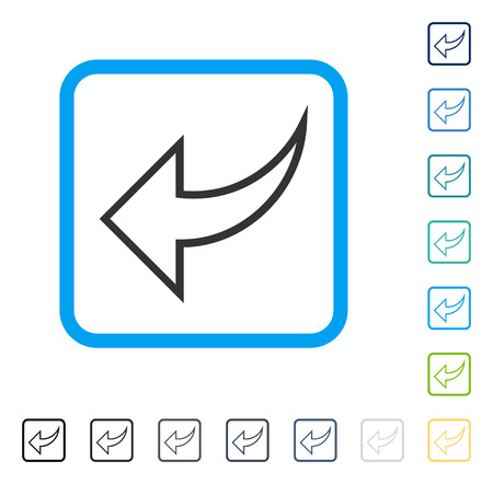Undo icon inside rounded rectangle frame. Vector illustration style is a flat iconic symbol in some color versions. Stock Vector - 83217957