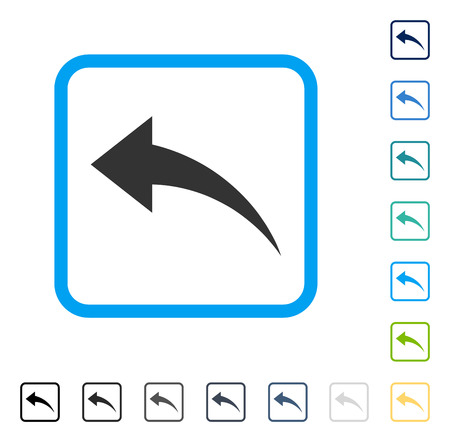 Undo icon inside rounded rectangle frame. Vector illustration style is a flat iconic symbol in some color versions. Stock Vector - 83217958