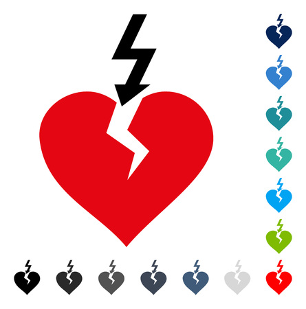 Break Heart icon. Vector illustration style is a flat iconic symbol in some color versions.
