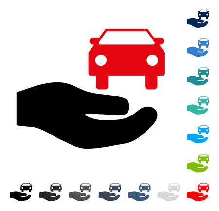 lease: Car Gift Hand icon. Vector illustration style is a flat iconic symbol in some color versions.
