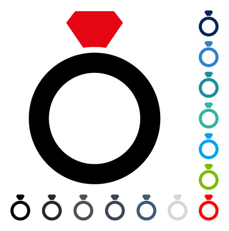 Diamond Ring icon. Vector illustration style is a flat iconic symbol in some color versions. Illustration