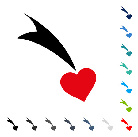 Falling Heart icon. Vector illustration style is a flat iconic symbol in some color versions.