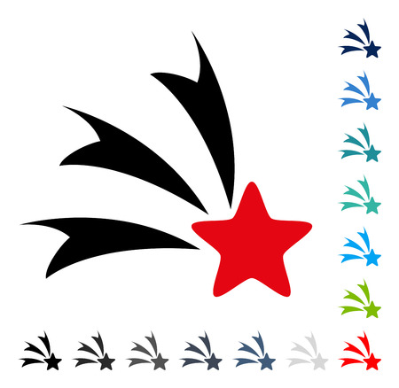 Falling Star icon. Vector illustration style is a flat iconic symbol in some color versions.