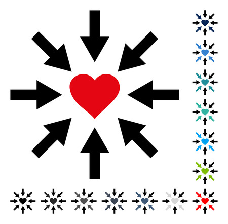 position d amour: Impact Love Heart icon. Vector illustration style is a flat iconic symbol in some color versions.