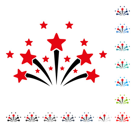 Star Fireworks icon. Vector illustration style is a flat iconic symbol in some color versions.