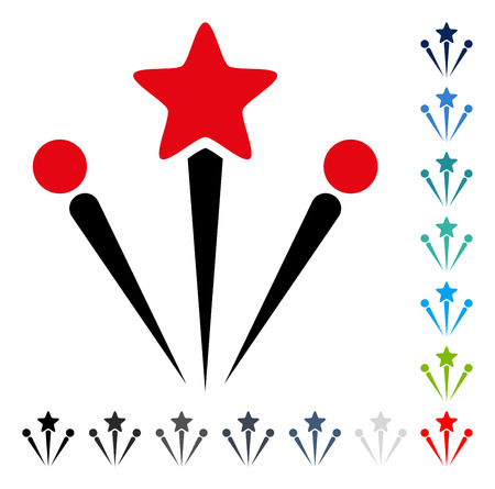 christmas cracker: Salute Fireworks icon. Vector illustration style is a flat iconic symbol in some color versions. Illustration