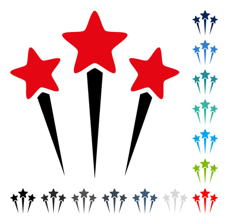 Star Salute icon. Vector illustration style is a flat iconic symbol in some color versions.