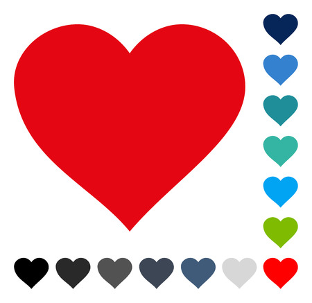 Valentine Heart icon. Vector illustration style is a flat iconic symbol in some color versions. Illustration