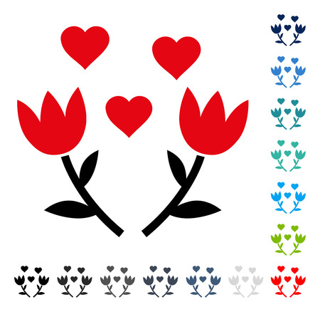 Lovely Tulip Flowers icon. Vector illustration style is a flat iconic symbol in some color versions.