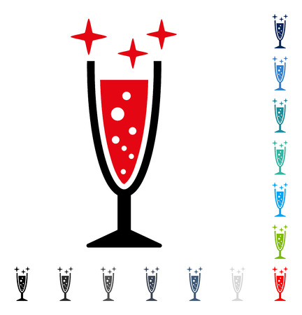 aerated: Sparkle Wine Glass icon. Vector illustration style is a flat iconic symbol in some color versions. Illustration