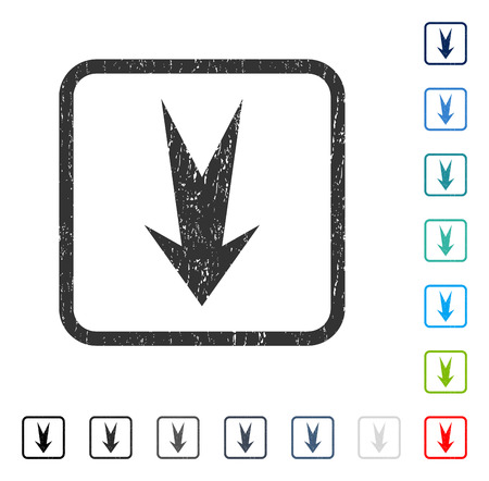 Arrow Down rubber watermark in some color versions.