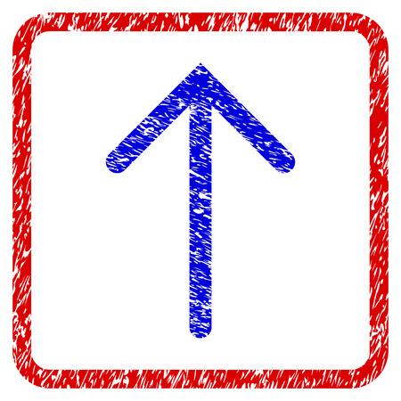 flèche vers le haut icône arrondie . cadre arrondi et bleu avec le symbole noir avec une rayures rayée . bleu bleu boutons de couleur . vecteur avec le symbole de rayures aléatoires