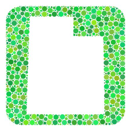 Map of Utah State mosaic created with rounded rectangle and cut out shape. Vector map of Utah State mosaic of circle spots in variable sizes and green color tints.