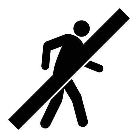 No Walking Man vector icon. A flat illustration design used for No Walking Man icon, on a white background. 일러스트
