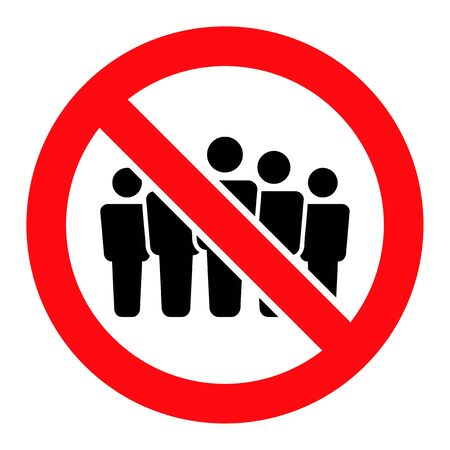 Forbidden People Crowd vector illustration. A flat illustration design used for Forbidden People Crowd icon, on a white background.