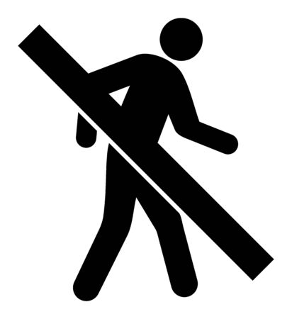 Forbidden Walking Man vector icon. A flat illustration design used for Forbidden Walking Man icon, on a white background. 일러스트