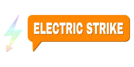 Electric Strike and electric strike composition. Spectrum colored net electric strike, and chat Electric Strike bubble frame. Chat colored Electric Strike bubble has shadow.
