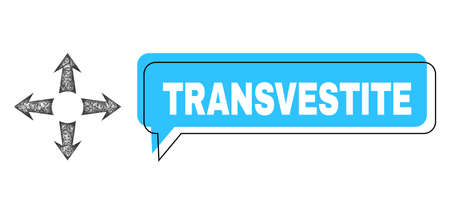 Conversation Transvestite blue cloud frame and net mesh expand arrows. Frame and colored area are misplaced for Transvestite label, which is located inside blue colored cloud.