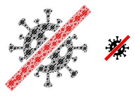 Terminate coronavirus icon collage is made from repeating itself terminate coronavirus items. itself vector collage from terminate coronavirus elements.