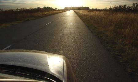 car in a road