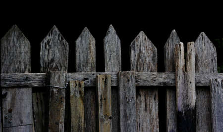 old wood fence