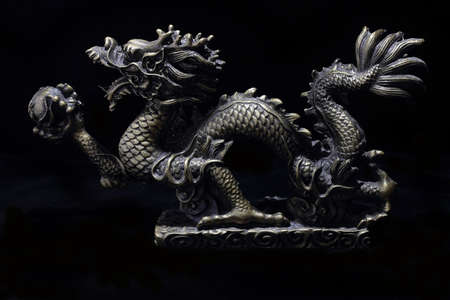 chinese dragon with orb