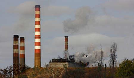 contaminacion ambiental: la contaminaci�n ambiental Foto de archivo