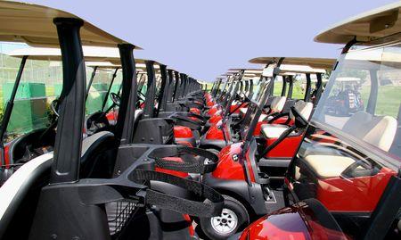 Golf carts photo