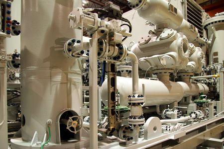 Natural gas compressor Stock Photo