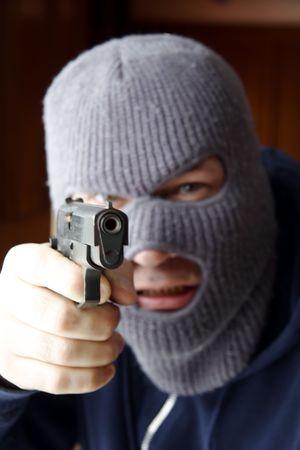 fugitive: At gun point