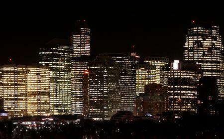 river scape: City night