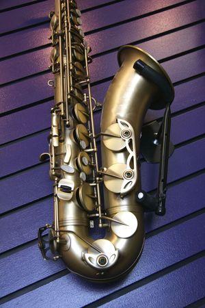 grasp: Saxophone Stock Photo