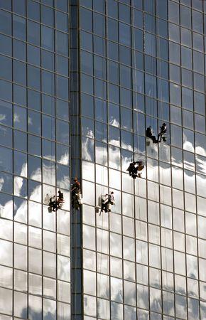 Window cleaners Zdjęcie Seryjne