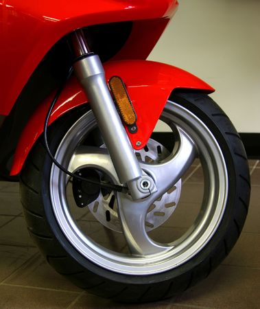 Scooter's front wheel Stock Photo - 1106024