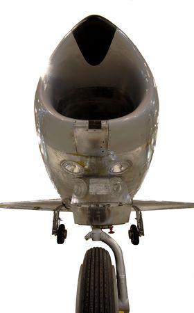 gills: Vintage fighterjet Stock Photo