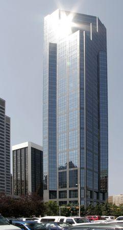 Reflection on a glass facade Stock Photo - 1355887