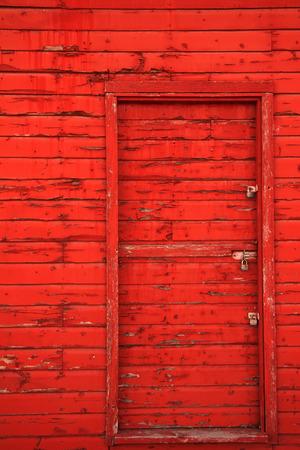 Red barn door photo