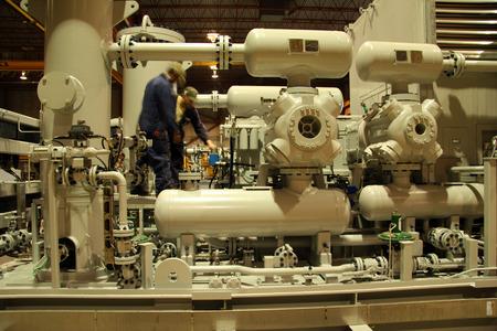 valves: Compressor staion Stock Photo