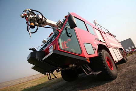 Airport fire engine photo