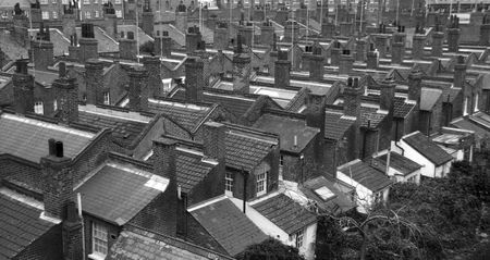 rooftile: Roofs of London Stock Photo