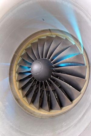 downstream: Aircraft engin  Turbofan