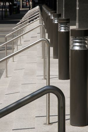 handrails: Stairs, handrails, and lights