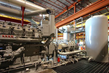 Compressor station in manufacturing plant