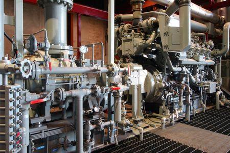 Compressor staion in manufacturing plant Archivio Fotografico