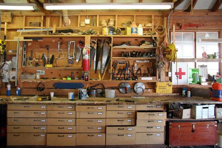 Tool board of a cabinetmaker