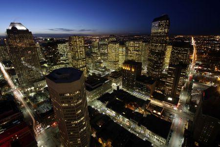 Metropolis by night photo