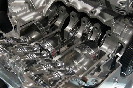 Internal combustion engine cut away Stock Photo - 2658367