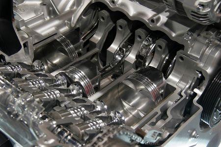Internal combustion engine cut away