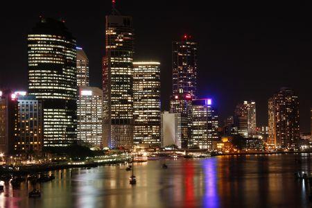 Brisbane at night  Australia  Queensland